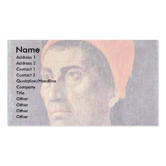 Portrait Of Carlo De 'Medici. By Andrea Mantegna Double-Sided Standard Business Cards (Pack Of 100)