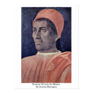 Portrait Of Carlo De 'Medici. By Andrea Mantegna Post Cards