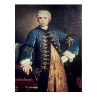 Portrait of Carlo Farinelli, 'Il Ragazzo' Postcard