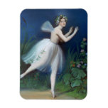 'Portrait of Carlotta Grisi in Giselle' by Rectangular Magnet