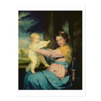 Portrait of Caroline, Duchess of Marlborough with Postcard