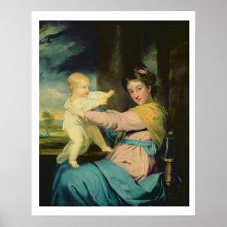 Portrait of Caroline, Duchess of Marlborough with Poster