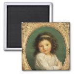 Portrait of Caroline Lalive de la Briche, 1786 2 Inch Square Magnet