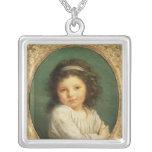 Portrait of Caroline Lalive de la Briche, 1786 Square Pendant Necklace