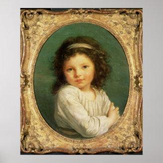 Portrait of Caroline Lalive de la Briche, 1786 Poster