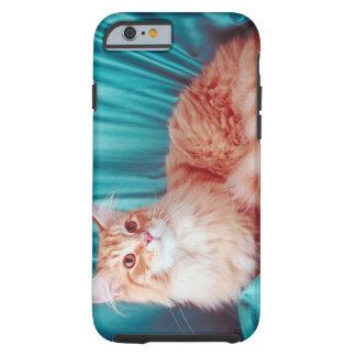 Portrait of cat tough iPhone 6 case