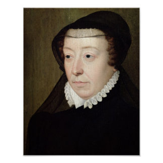 Portrait of Catherine de Medici Poster