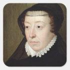 Portrait of Catherine de Medici Square Sticker