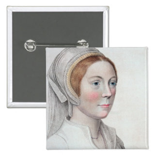 Portrait of Catherine Howard (1520-42) engraved by Button