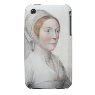 Portrait of Catherine Howard (1520-42) engraved by iPhone 3 Cover