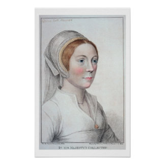 Portrait of Catherine Howard (1520-42) engraved by Poster