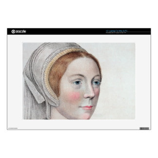 Portrait of Catherine Howard (1520-42) engraved by Skin For Laptop