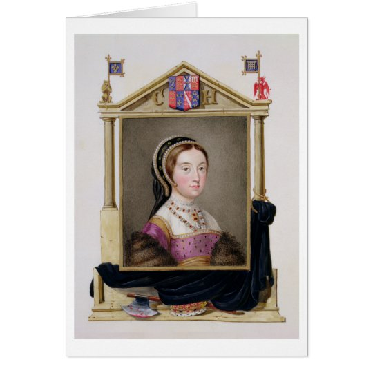 Portrait of Catherine Howard (c.1520-d.1542) 5th Q Card