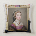Portrait of Catherine Howard (c.1520-d.1542) 5th Q Throw Pillow