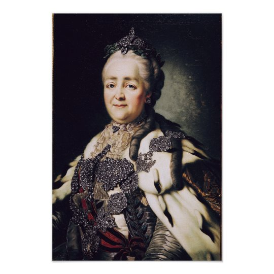 Portrait of Catherine II  of Russia 2 Poster