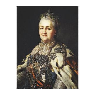 Portrait of Catherine II  of Russia Canvas Print