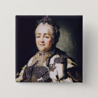 Portrait of Catherine II  of Russia Pinback Button