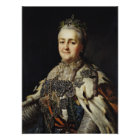 Portrait of Catherine II  of Russia Poster