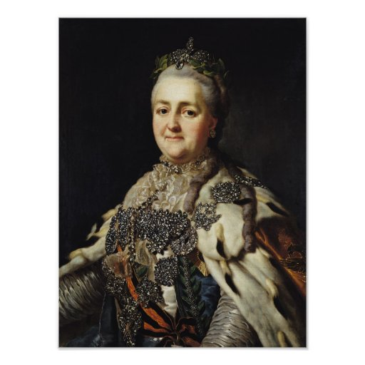 Portrait of Catherine II  of Russia Posters