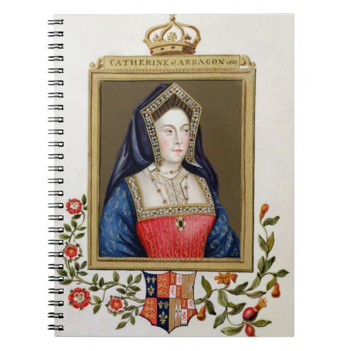 Portrait of Catherine of Aragon (1485-1536) 1st Qu Notebook