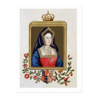 Portrait of Catherine of Aragon (1485-1536) 1st Qu Postcard