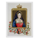 Portrait of Catherine of Aragon (1485-1536) 1st Qu Poster