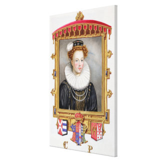 Portrait of Catherine Parr (1512-1548) Sixth Wife Canvas Print