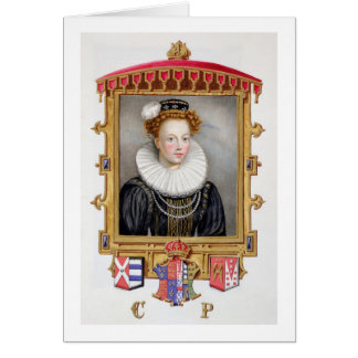 Portrait of Catherine Parr (1512-1548) Sixth Wife Greeting Card