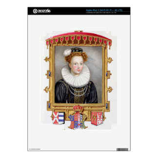 Portrait of Catherine Parr (1512-1548) Sixth Wife iPad 3 Decal