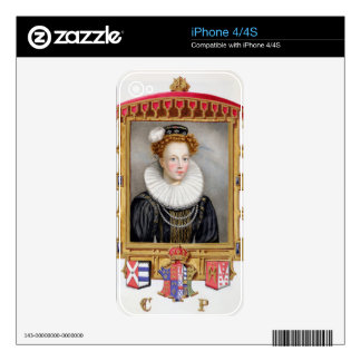 Portrait of Catherine Parr (1512-1548) Sixth Wife iPhone 4S Decal