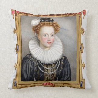 Portrait of Catherine Parr (1512-1548) Sixth Wife Pillow