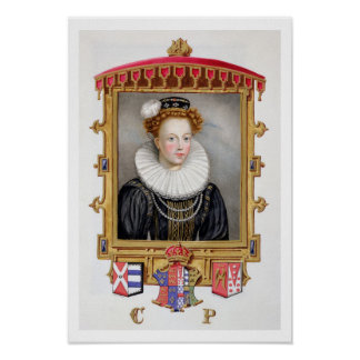 Portrait of Catherine Parr (1512-1548) Sixth Wife Poster