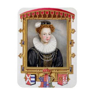 Portrait of Catherine Parr (1512-1548) Sixth Wife Rectangular Photo Magnet