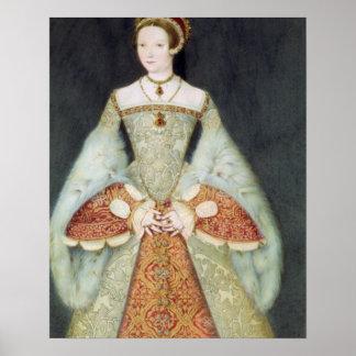 Portrait of Catherine Parr (1512-48), 1545 (colour Poster