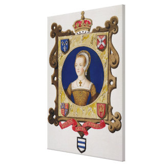 Portrait of Catherine Parr (1512-48) 6th Queen of Canvas Print