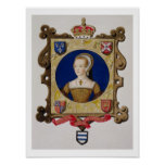 Portrait of Catherine Parr (1512-48) 6th Queen of Poster