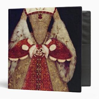 Portrait of Catherine Parr, 1545 3 Ring Binder