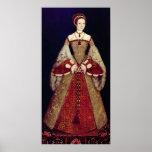 Portrait of Catherine Parr, 1545 Poster