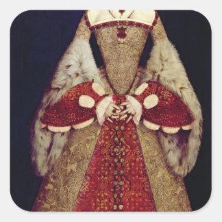 Portrait of Catherine Parr, 1545 Square Sticker