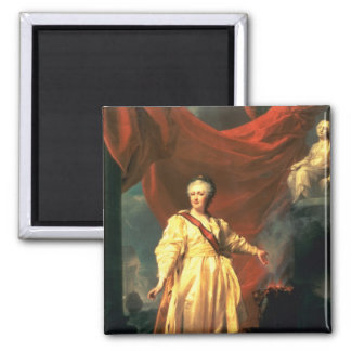 Portrait of Catherine the Great as Lawgiver 2 Inch Square Magnet