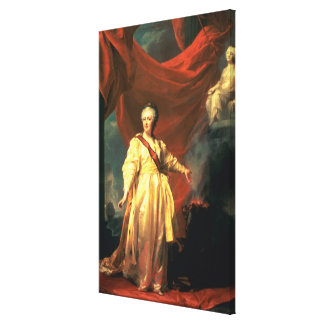 Portrait of Catherine the Great as Lawgiver Canvas Print