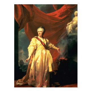 Portrait of Catherine the Great as Lawgiver Postcard