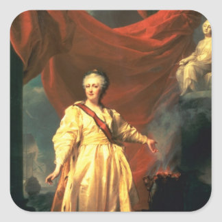 Portrait of Catherine the Great as Lawgiver Square Sticker