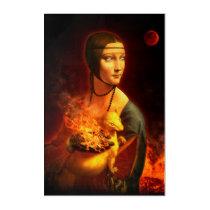 Portrait of Cecilia Gallerani Acrylic Print