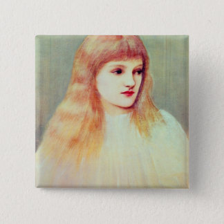 Portrait of Cecily Horner, 1895 Pinback Button