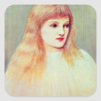 Portrait of Cecily Horner, 1895 Square Sticker