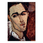 Portrait of Celso Laga by Amedeo Modigliani Card