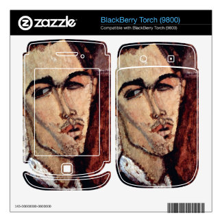 Portrait of Celso Laga by Amedeo Modigliani BlackBerry Decals
