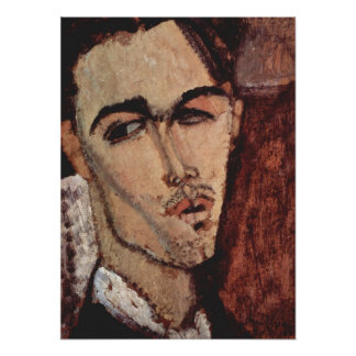Portrait of Celso Lagar - Amedeo Modigliani Poster