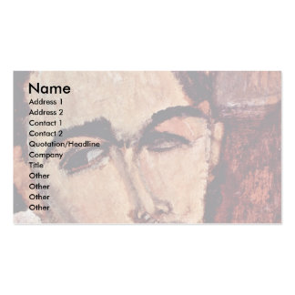 Portrait Of Celso Lagar By Modigliani Amedeo Double-Sided Standard Business Cards (Pack Of 100)